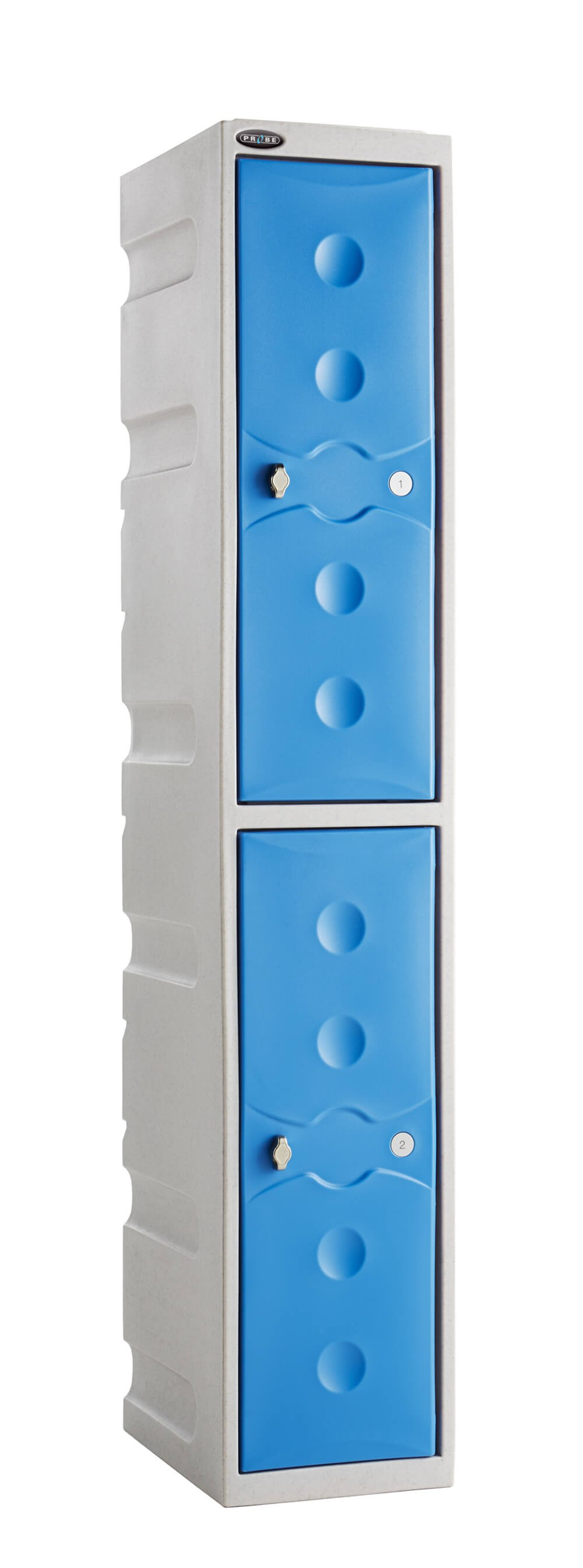 ULTRA-RESISTANT Two Compartment Plastic Locker