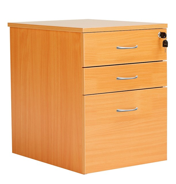 FRACTION 3 Drawer High Mobile Pedestal