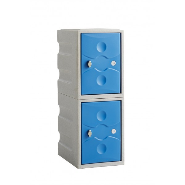 ULTRA-RESISTANT Two Door Plastic Mini Locker