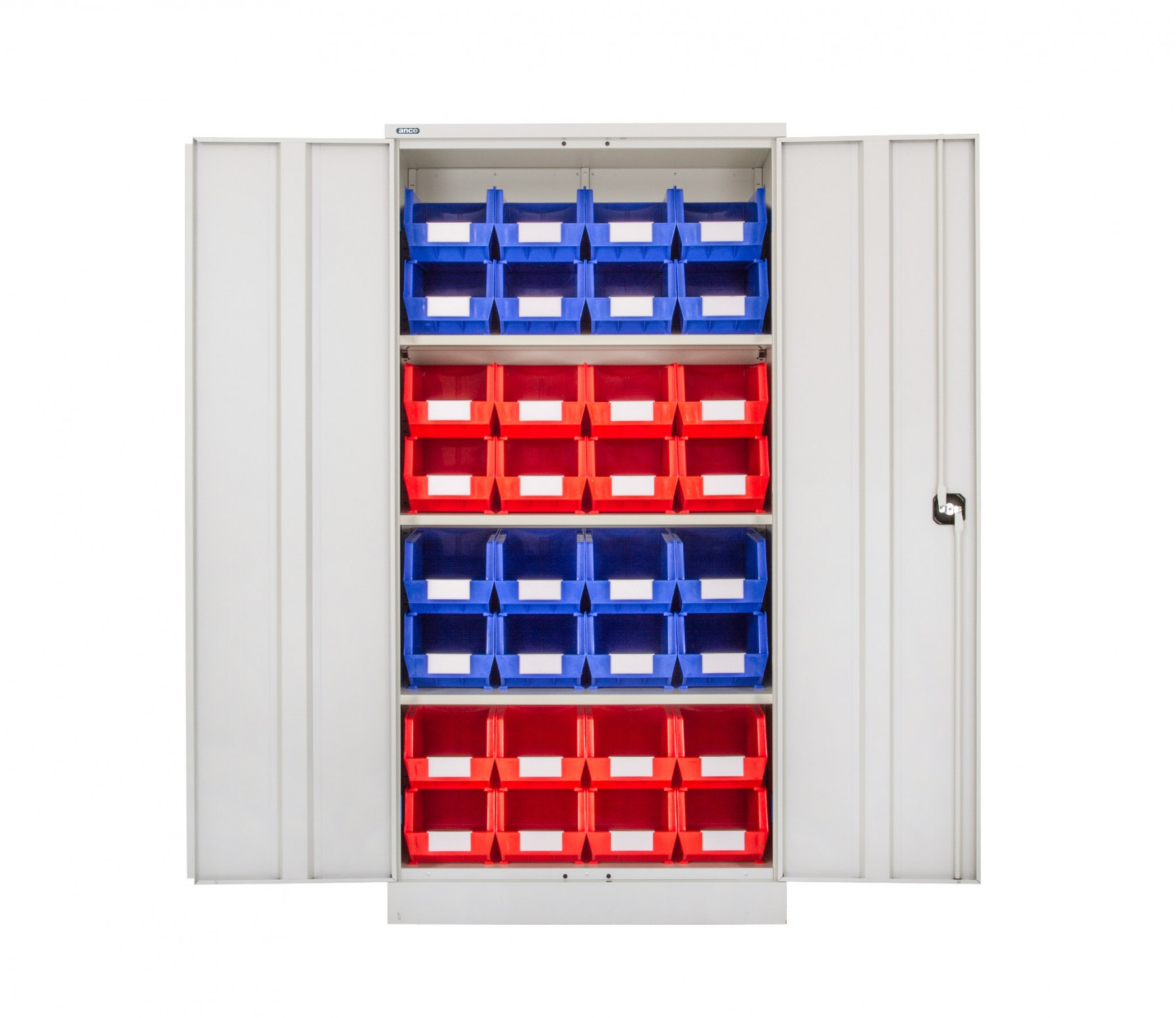 Steel Cupboard with Plastic Bins - Option G