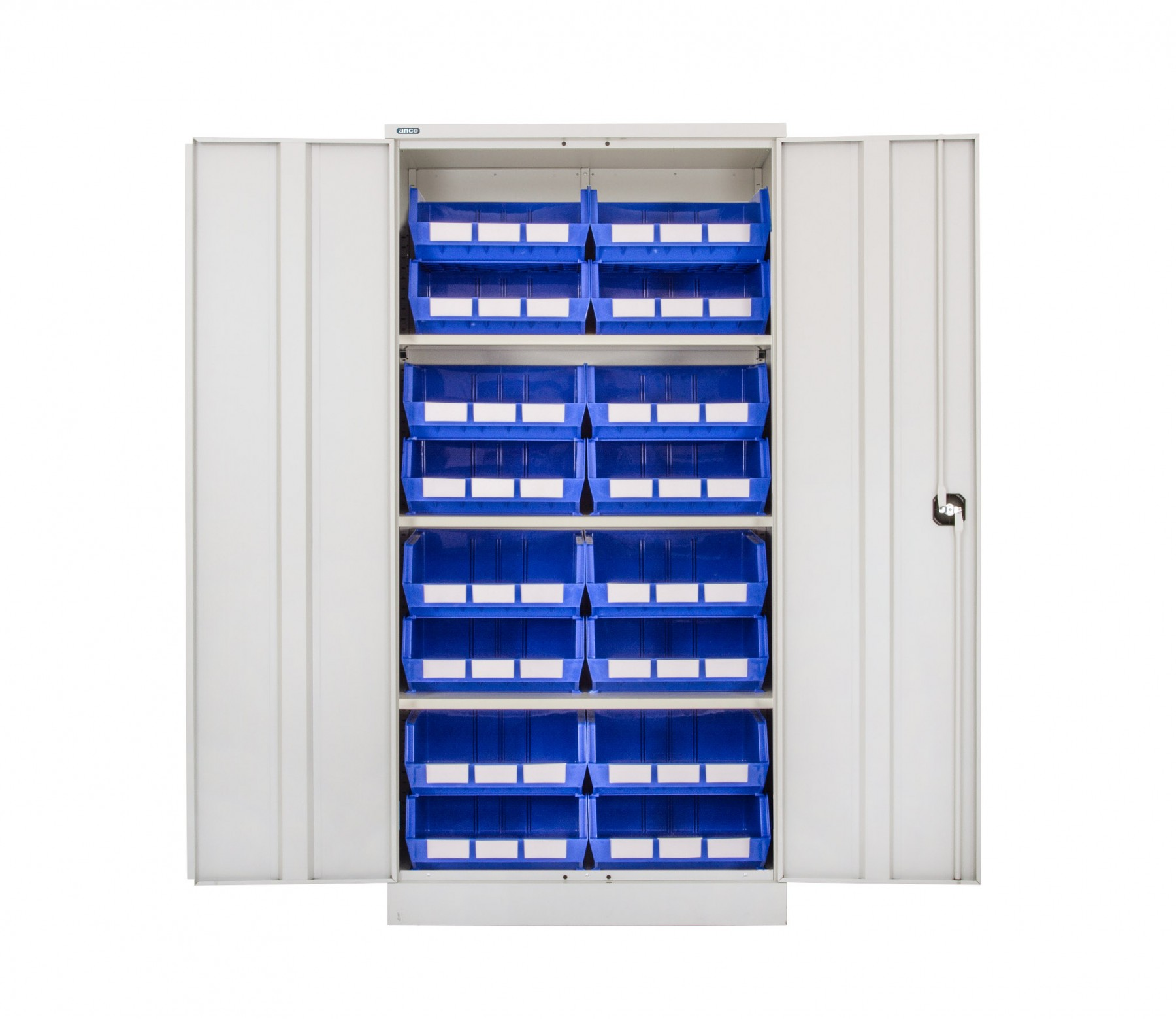 Steel Cupboard with Plastic Bins - Option J