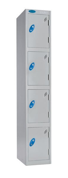 Four Compartment Aqua Coat Locker