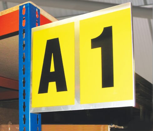 Self Adhesive Bay Marker with 2x Characters
