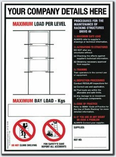 Weight Loading Identification for Drive Through Racking