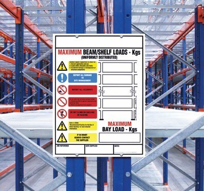 Weight Loading Identification for Pallet Racking (Large Size)