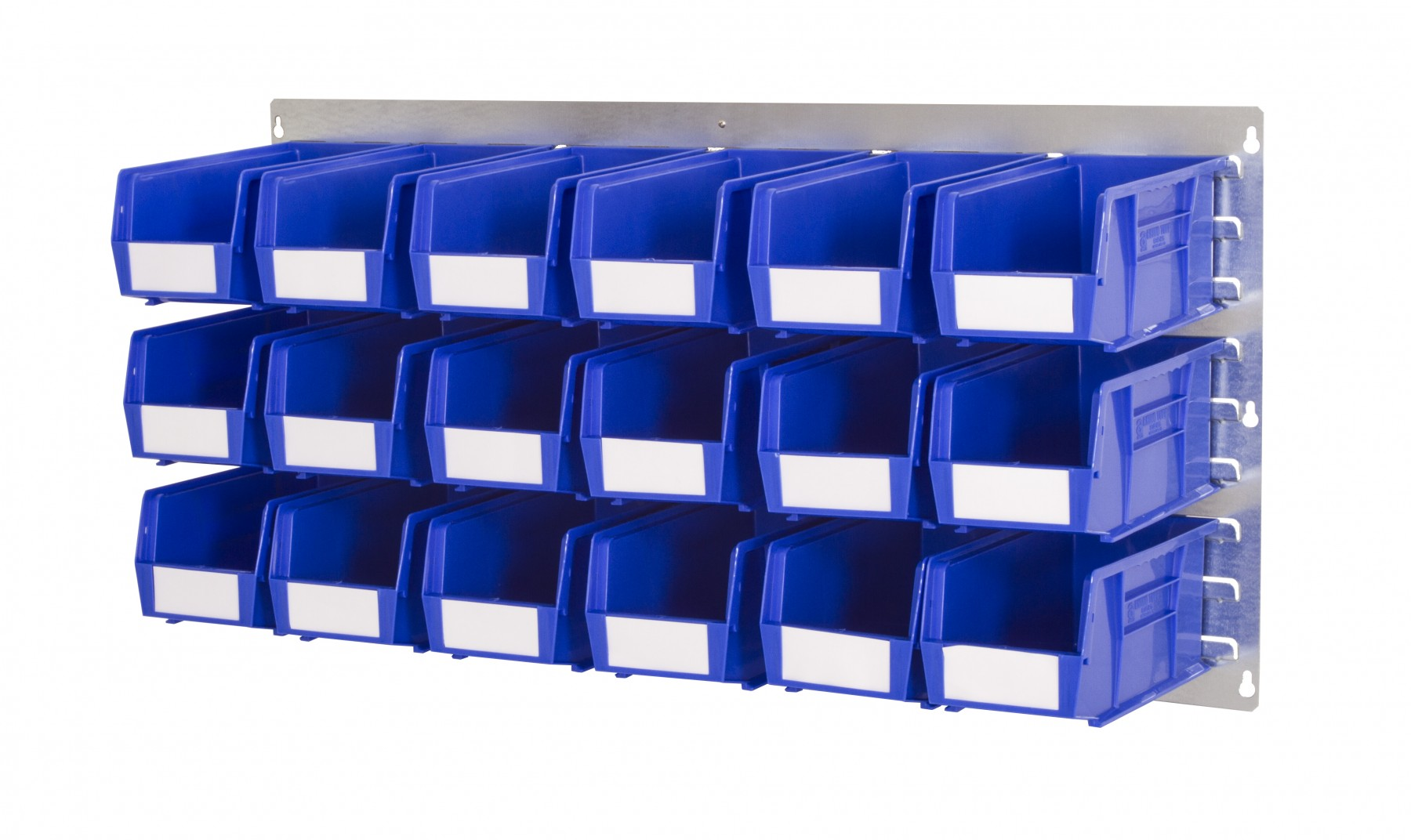 WALL LOUVRE PANELS WITH PLASTIC BINS (AL)