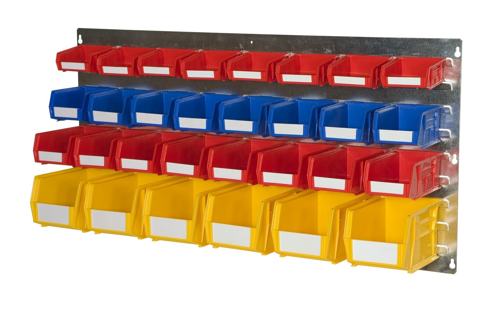 WALL LOUVRE PANELS WITH PLASTIC BINS (EL)