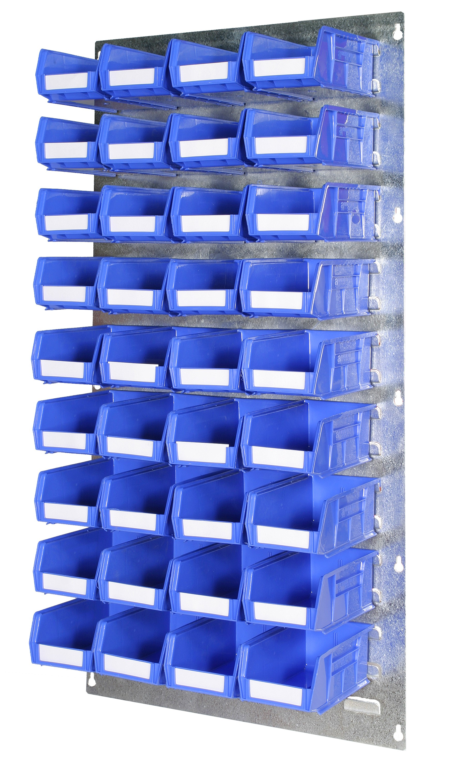 WALL LOUVRE PANELS WITH PLASTIC BINS (DP)
