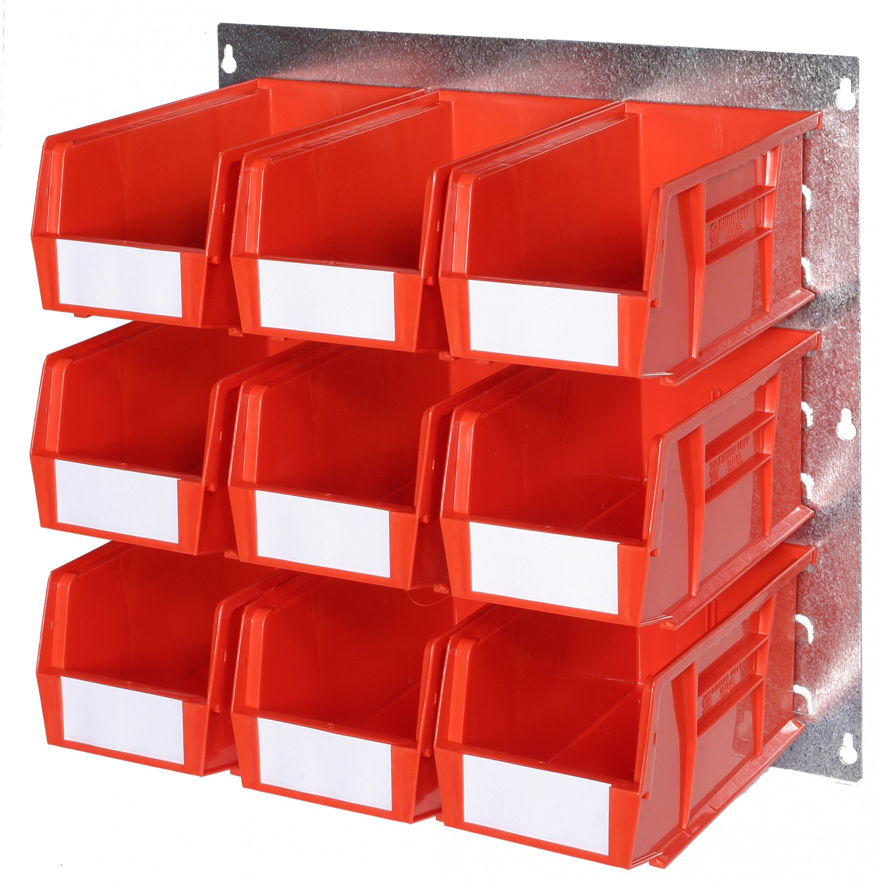 WALL LOUVRE PANELS WITH PLASTIC BINS (Q)