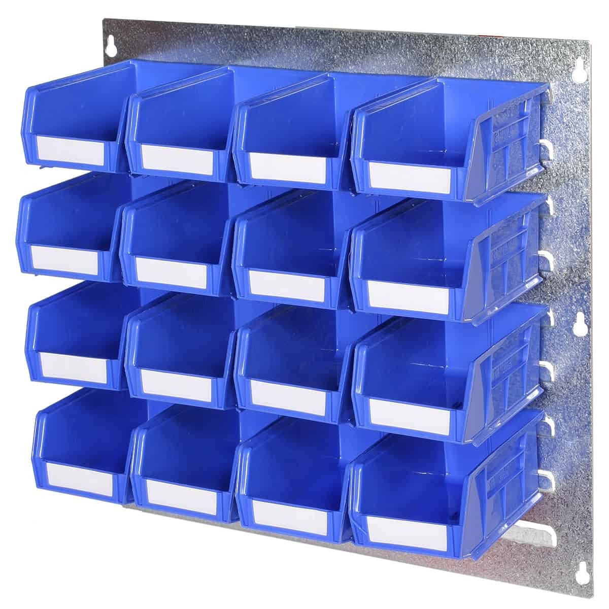 WALL LOUVRE PANELS WITH PLASTIC BINS (T)