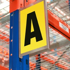 Self Adhesive Bay Marker with 1x Character