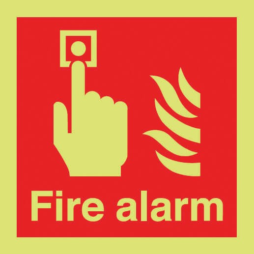Photoluminescent fire alarm