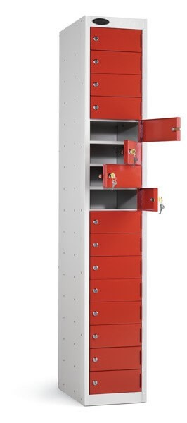Sixteen Compartment Locker