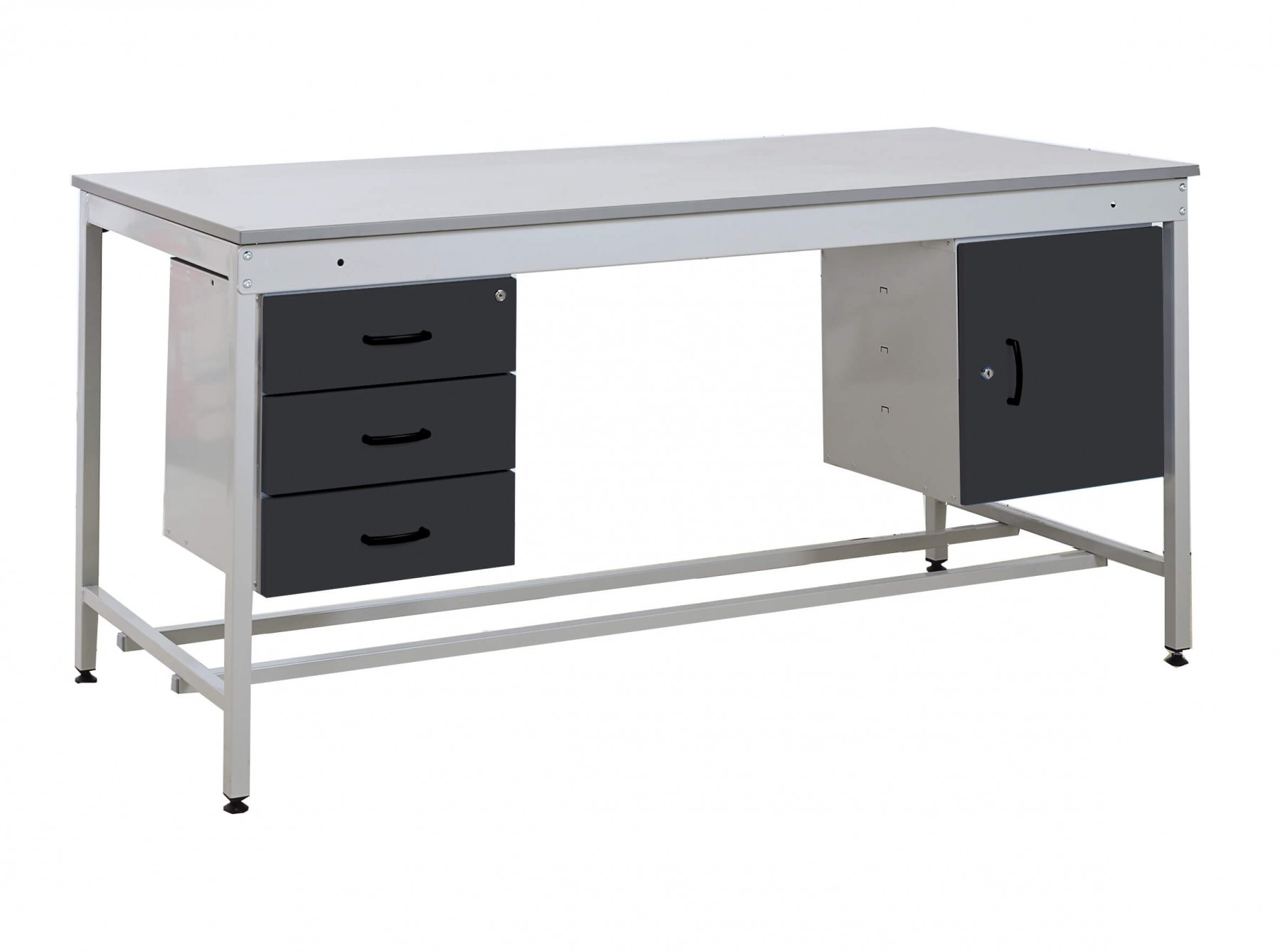 Taurus Utility Workbench - Triple drawer & Single cupboard