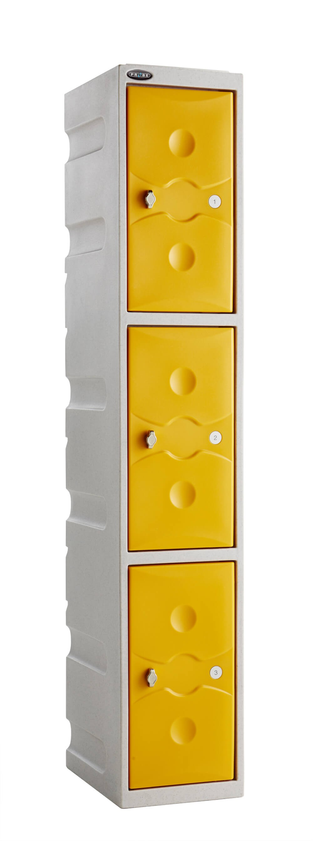 Three Compartment Plastic Locker