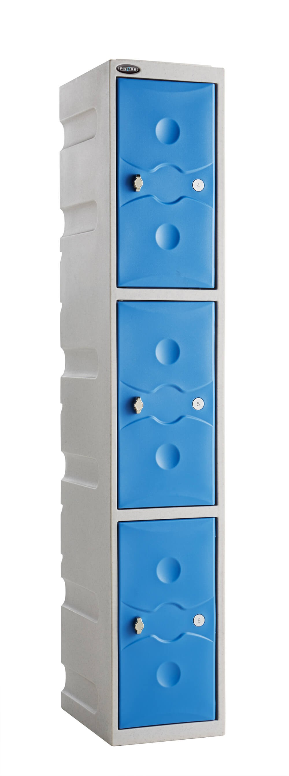 ULTRA-RESISTANT Three Compartment Plastic Locker
