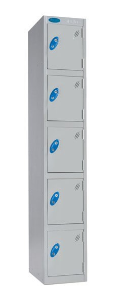 Five Compartment Aqua Coat Locker