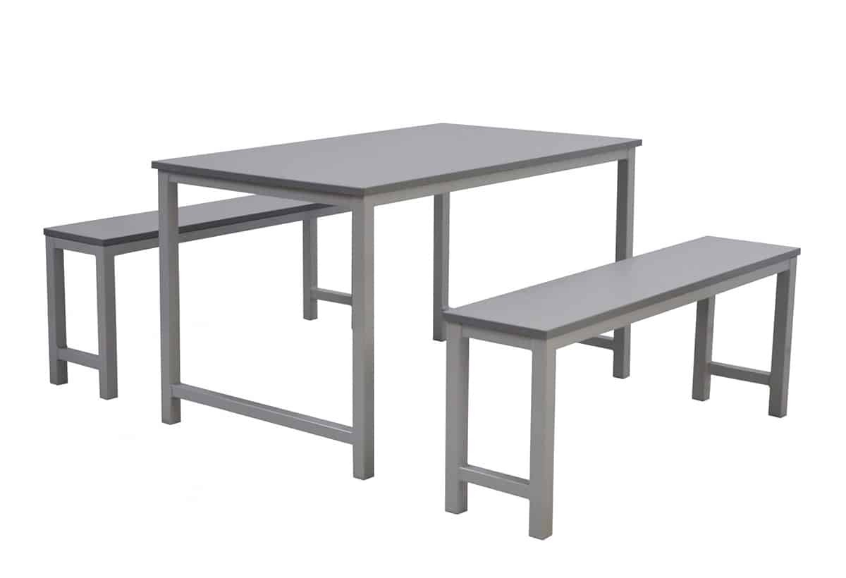 Canteen table with bench seating