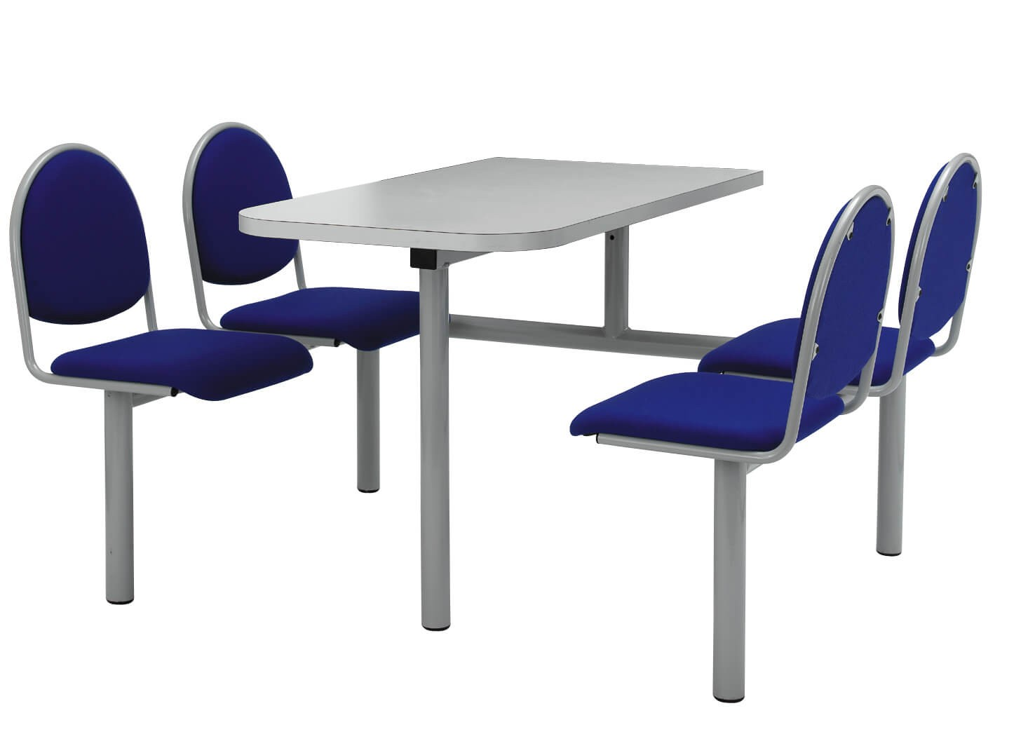 Canteen Table with Metal Frame & Seats
