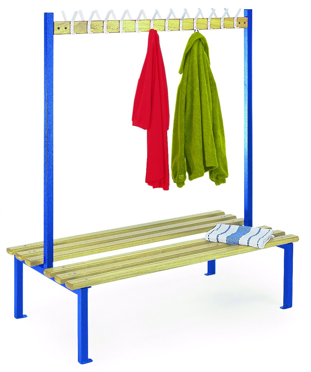 Double Sided Bench with Hooks