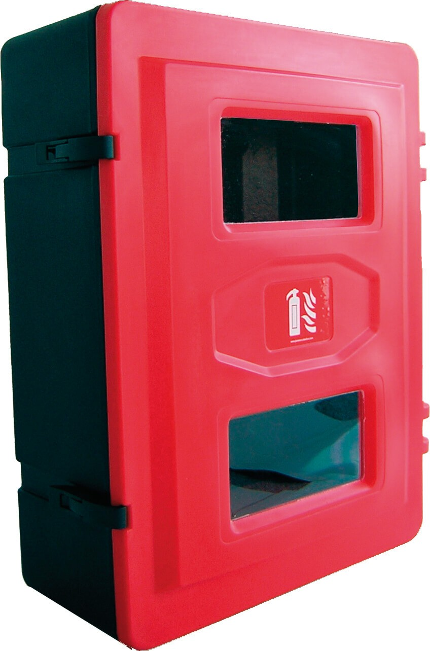 Double extinguishers polyethylene cabinet