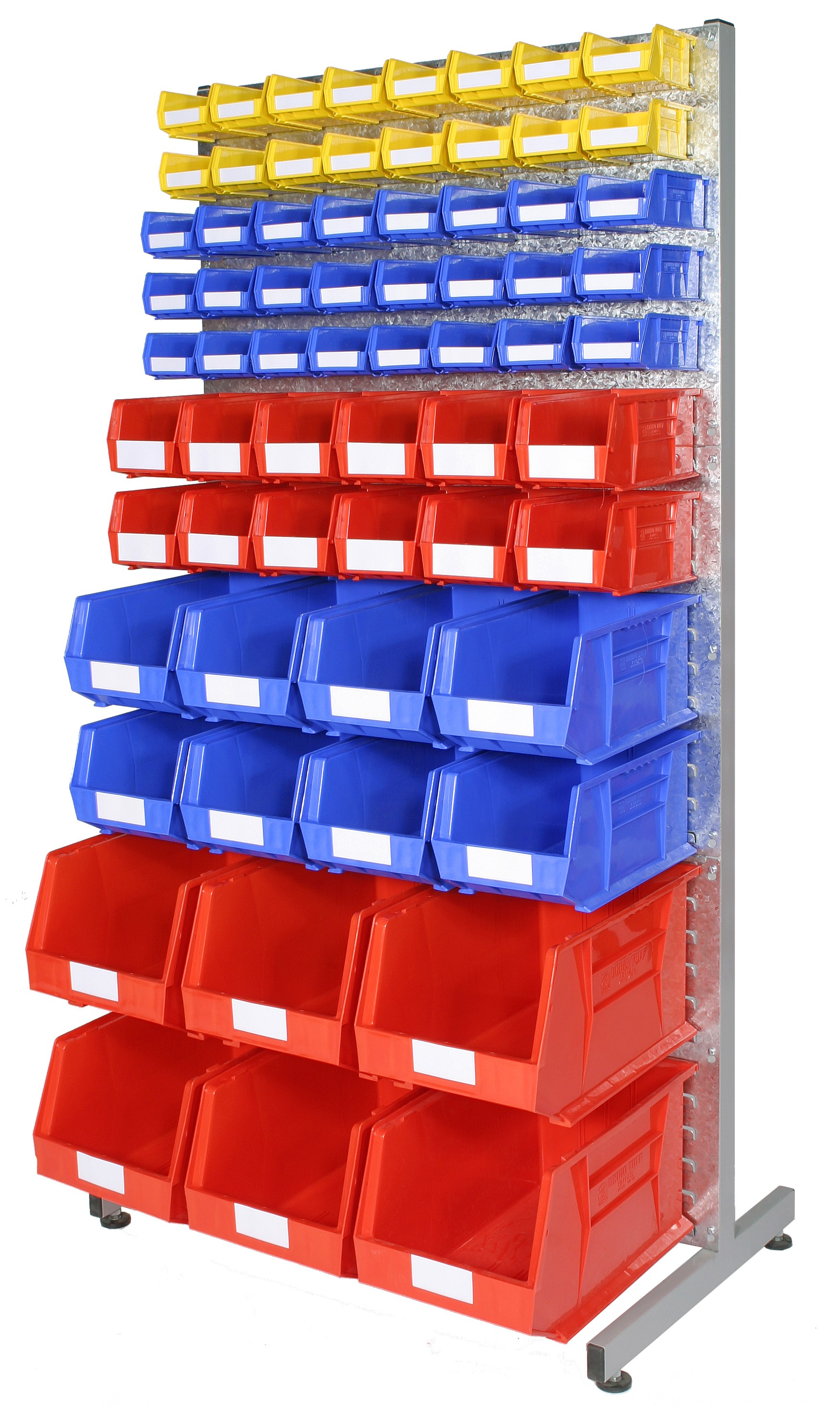 Louvre Racks with Plastic Bins - Kit A