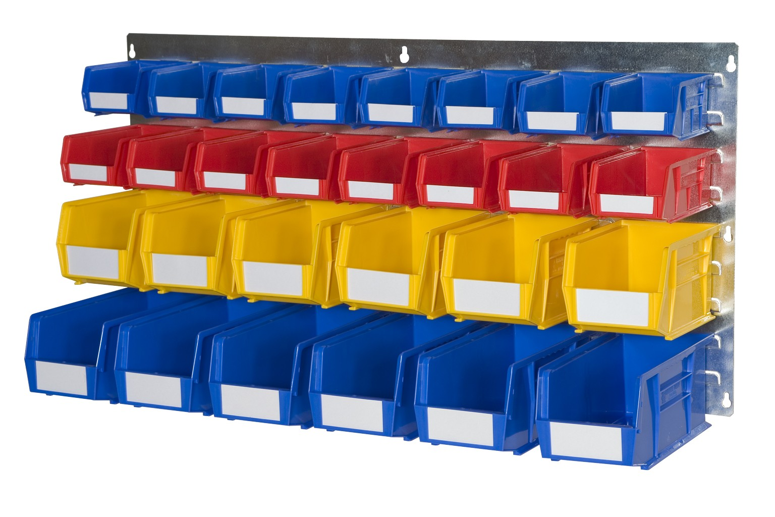 WALL LOUVRE PANELS WITH PLASTIC BINS (BL)