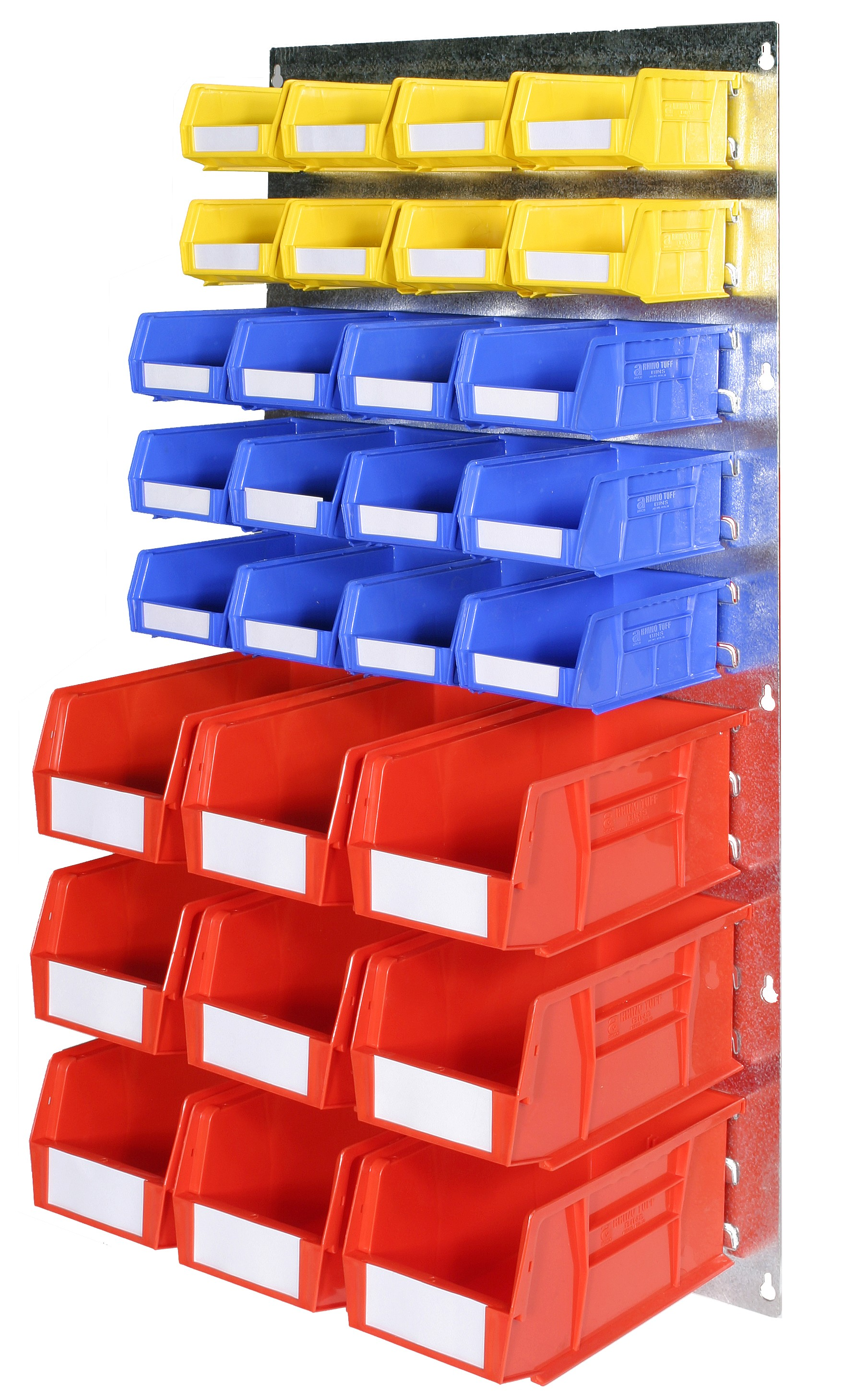 WALL LOUVRE PANELS WITH PLASTIC BINS (BP)