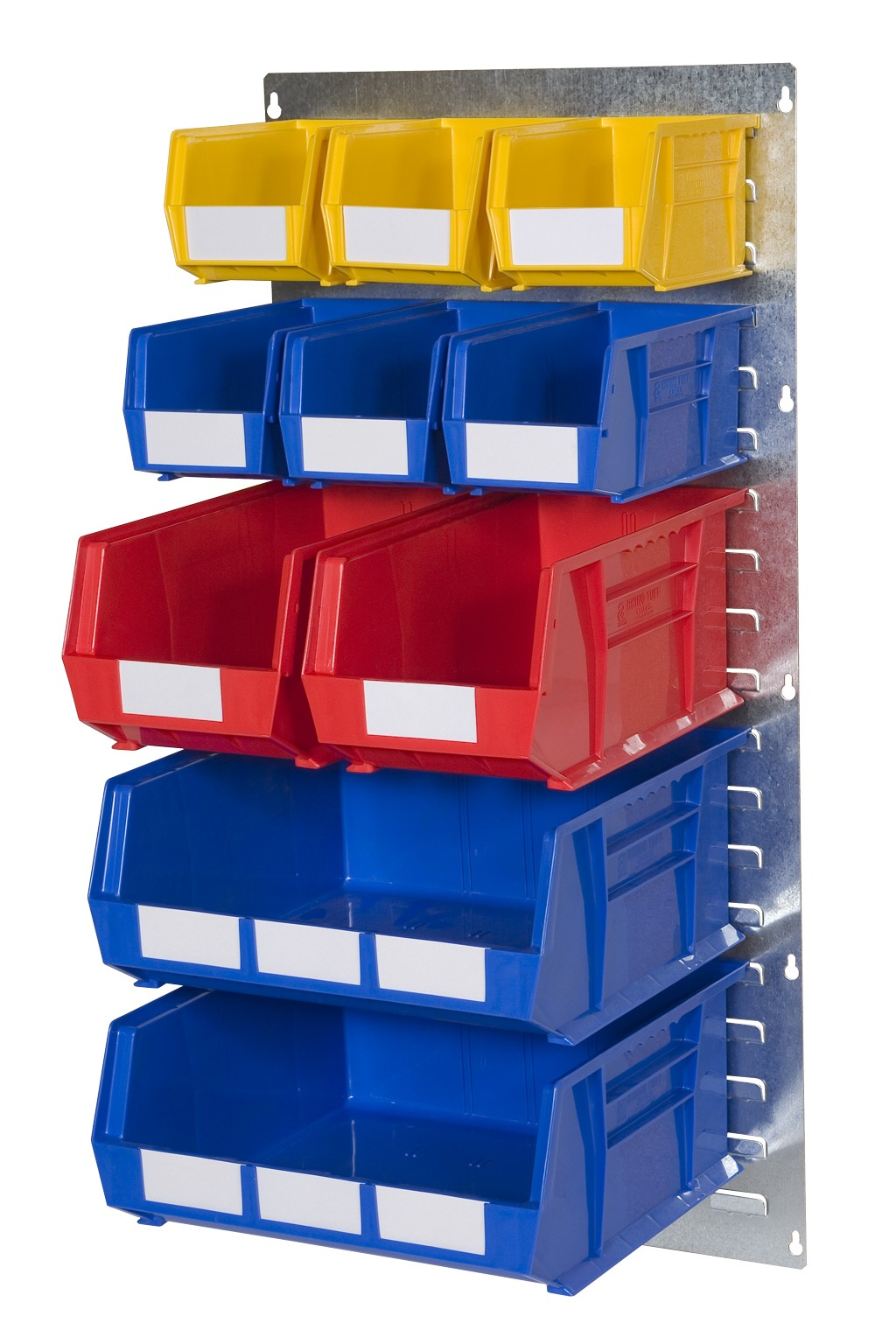 WALL LOUVRE PANELS WITH PLASTIC BINS (EP)