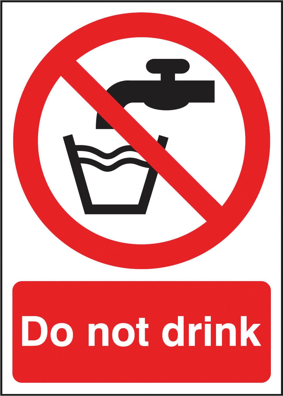 Do Not Drink Sign - Dalvie Systems