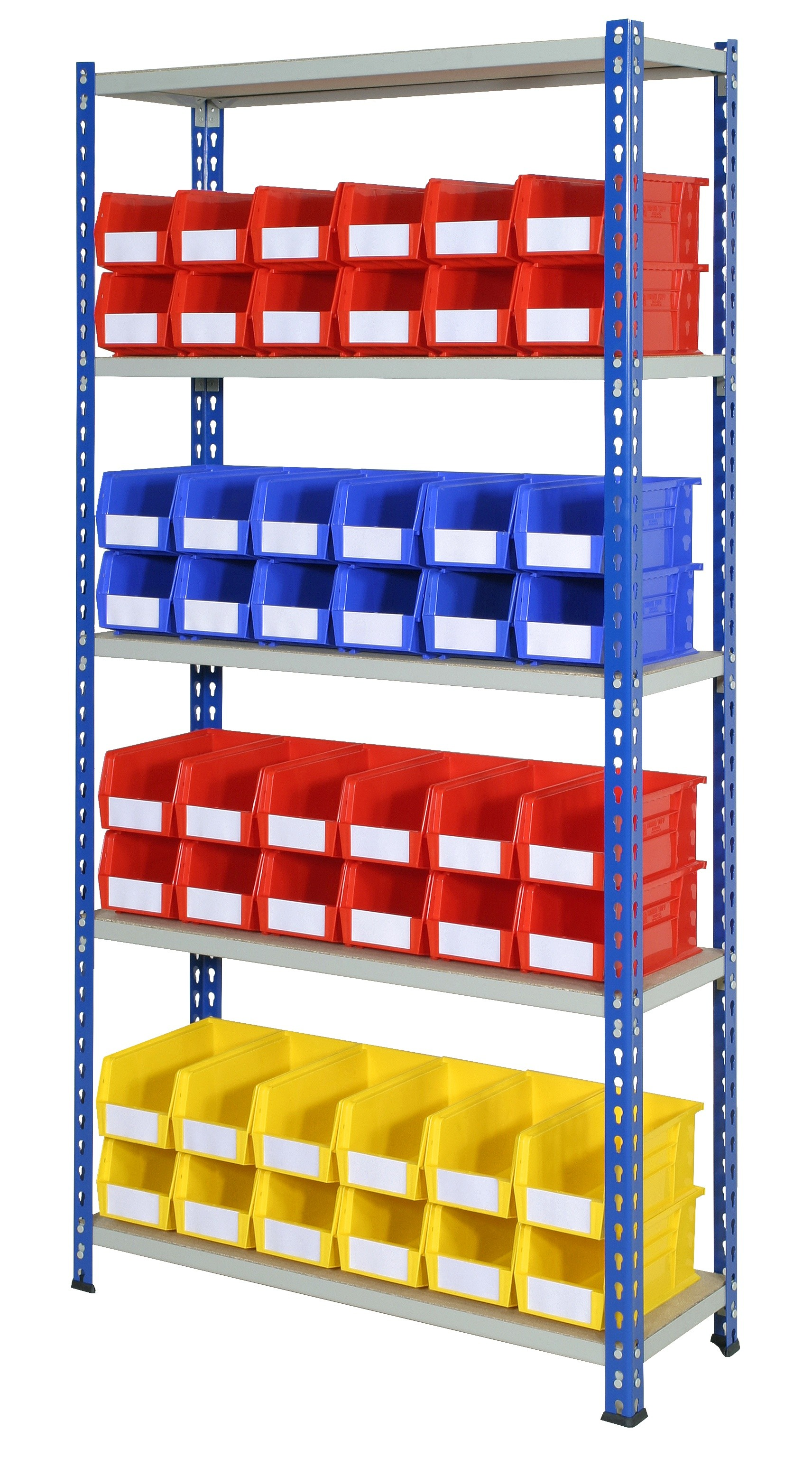 Rivet Bays with Plastic Bins - Option A
