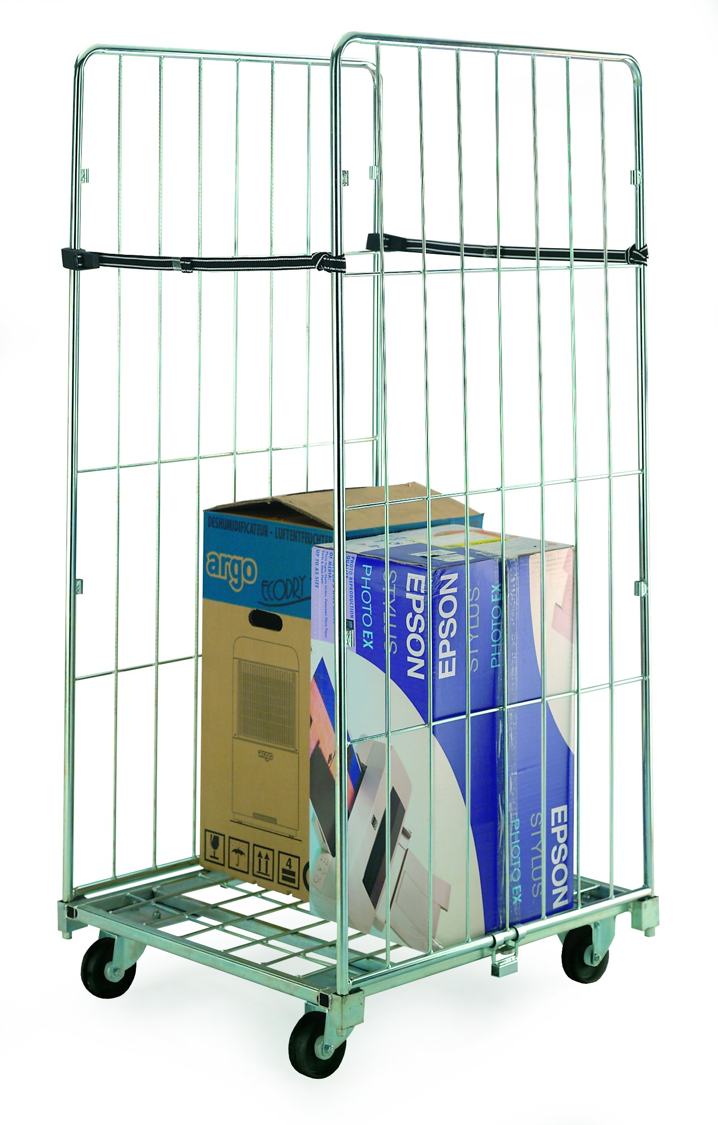 Demountable Rolcontainers - 2 sided with 2 straps