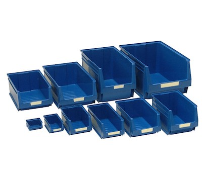 Pack of 12 LARGE Storage Bins - Not Suitable For Louvre Panels