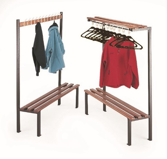 Single Sided Bench with Hooks