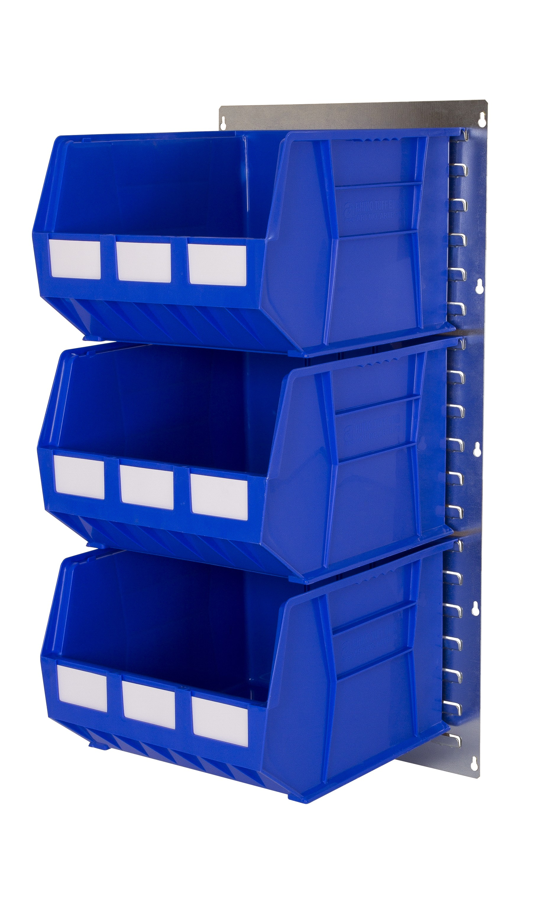 WALL LOUVRE PANELS WITH PLASTIC BINS (RP)