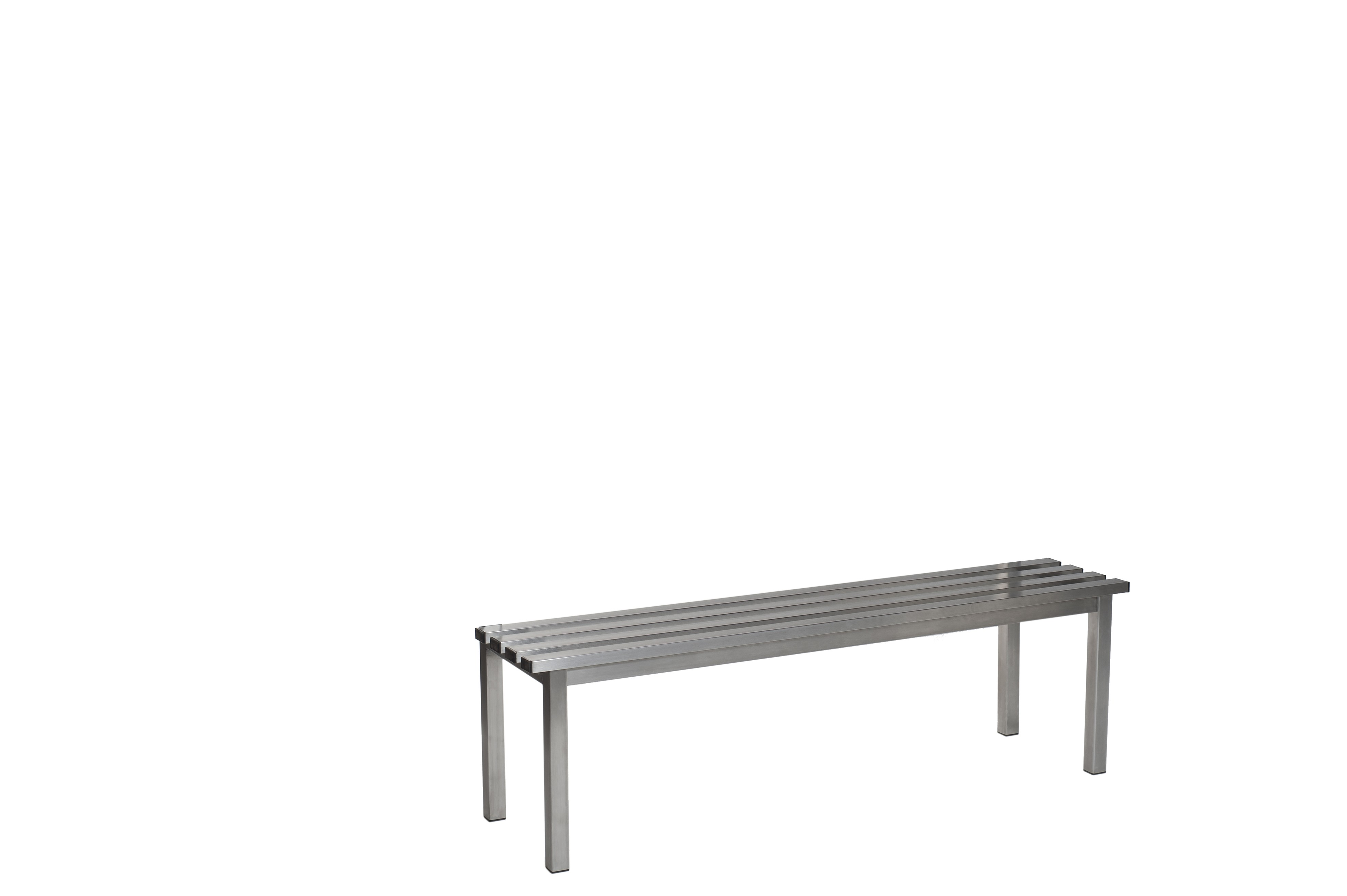 Stainless Steel Bench - Stainless Steel Slats