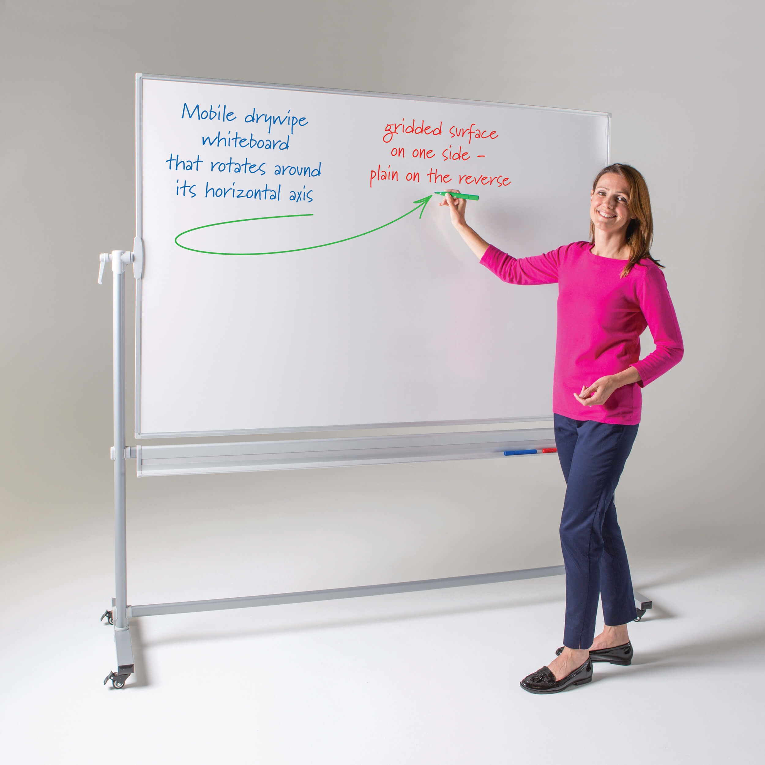 Revolving mobile whiteboard