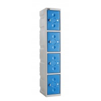 ULTRA-RESISTANT Four Compartment Plastic Locker