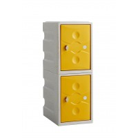 Two Door Plastic Mini Locker