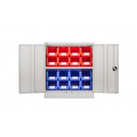 Steel Cupboard with Plastic Bins - Option C