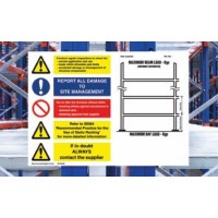 Horizontal Weight Notice for Pallet Racking
