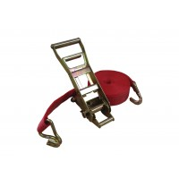 Ergonomic Ratchet Straps with 50mm Lashing & Claw Hooks