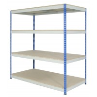 Wide Open Bays - Heavy Duty Shelving - 4 Levels - 1830mm H