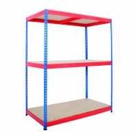 Wide Open Bays - Heavy Duty Shelving - 3 Levels - 1830mm H