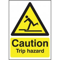 Caution trip hazard