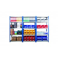 Wide Open Bays - Heavy Duty Shelves - 5 Levels - 2000mm H