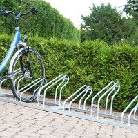 Low Hoop Cycle Rack