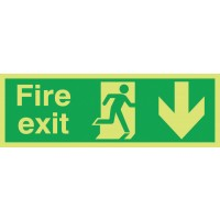 Photoluminescent fire exit
