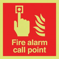 Photoluminescent fire alarm call point
