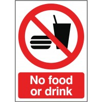 No Food or Drink Sign - Dalvie Systems